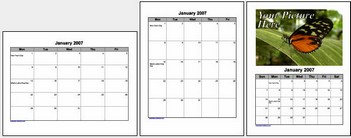 Free Calendars  online - download and print off free Microsoft Word calendars