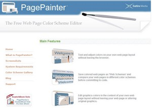 PagePainter - the free web page color scheme editor