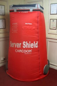 carcoonservershield small Carcoon Server Shield   your own personal portable computer clean room