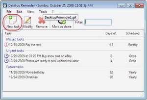 desktopreminder small Desktop Reminder   freeware runs your life, so your brain doesnt have to