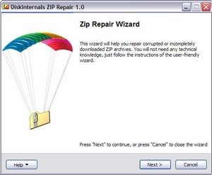 Zip Repair – freeware helps you recover corrupted zip files