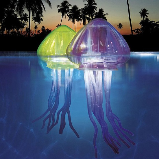 led jellyfish Floating LED Jellyfish light up your pool