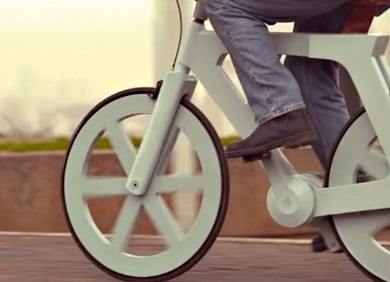 cardboard bike Cardboard Bicycle is easy on the planet, and your wallet