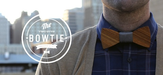 Bowties are cool, especially when they're made out of wood!