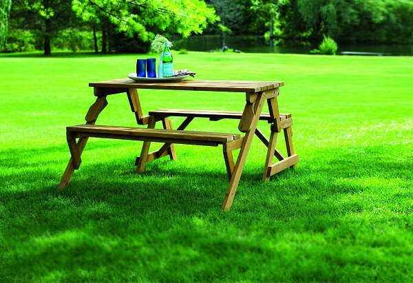 Interchangeable Picnic Table and Bench Interchangeable Picnic Table and Garden Bench – more than meets the eye!