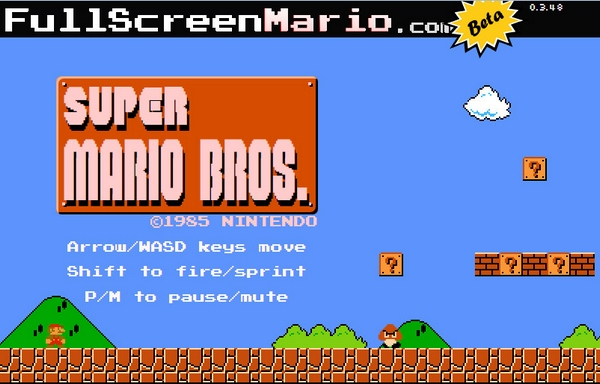 fullscreenmario Fullscreen Mario   play the full Super Mario Bros game in your browser