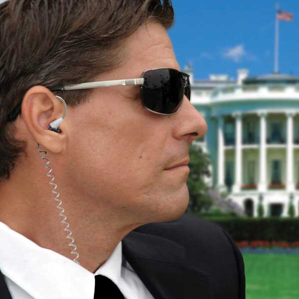 Secret Service Earphones Secret Service Earphones – Secret agent man, they've given you these cool earphones and taken away your name.