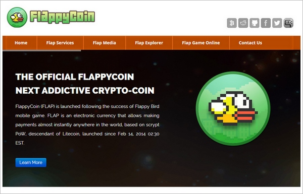flappycoin FlappyCoin   the new crypto currency modeled after a defunct game...wait wat...?