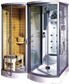 saunashowerunit small Utopia Steam Sauna   shower and sauna in perfect harmony