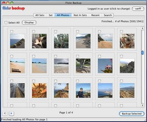 FlickrBackup - download your online photos for safekeeping