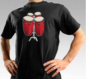 electronicbongodrumtshirt small Electronic Bongo Drum T Shirt   play dat chest hair man