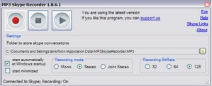 mp3skyperecorder small MP3 Skype Recorder   free voice call recording program