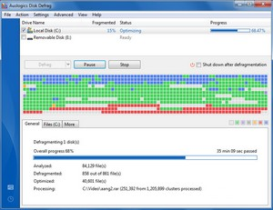 Auslogics Disk Defrag - the free easy way to improve the performance of your PC