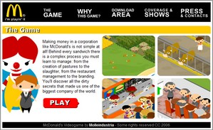McDonalds Video Game – make like a conglomerate and profit