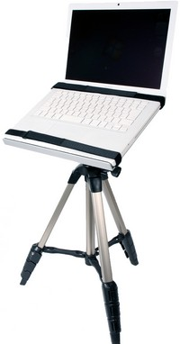 thankonotebooktripodstand Thanko Notebook Tripod Stand   Turns a camera tripod into a desk