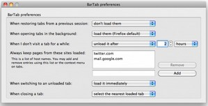 BarTab – free Firefox addon controls your tab memory consumption