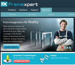 FrameXpert – create your own metal furniture online