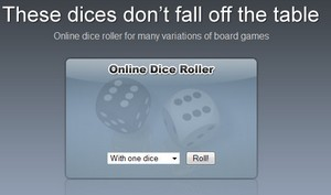 Online Dice Roller – useful tool for board gamers