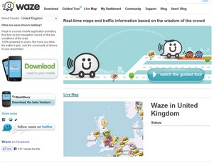 Waze – crowdsourced GPS navigation promises lots of awesomeness