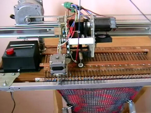 DIY Knitting Machine does all of the boring work for you