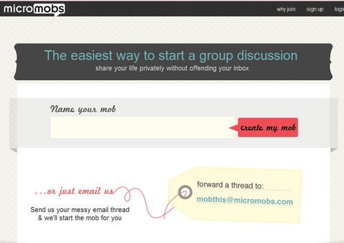 Micromobs – create instant group chats from your emails