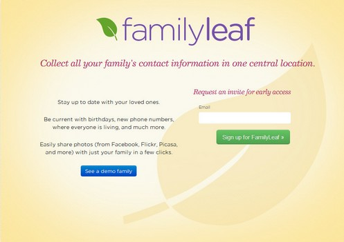 Family Leaf gives you a private family room on the Web