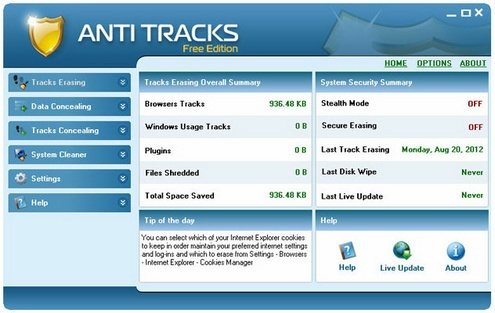antitracks2 Anti Tracks Free keeps your PC super clean and shiny [Freeware]