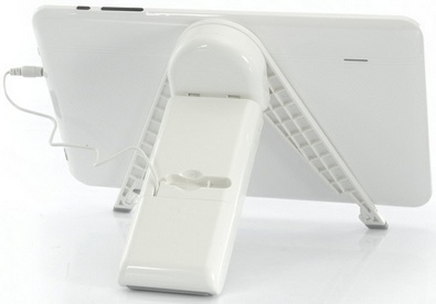 tabletstandchargerspeaker2 Portable Tablet Speaker Charger Stand does it all for a pittance