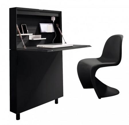 flatmate work desk fits anywhere gadgets 4 guys. Black Bedroom Furniture Sets. Home Design Ideas