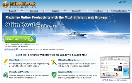 slimboat Slimboat   the fastest loading web browser on the planet? [Freeware]