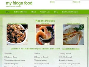 My Fridge Food – instantly find a recipe from your fridge contents