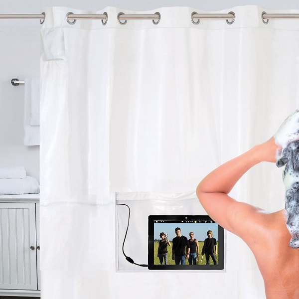 The iPad Musical Shower Curtain – because electronics and water are star-crossed lovers
