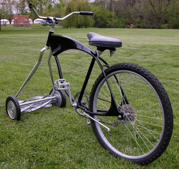 customchoppermowerbike Custom Chopper Mower Bike   only one careful owner...