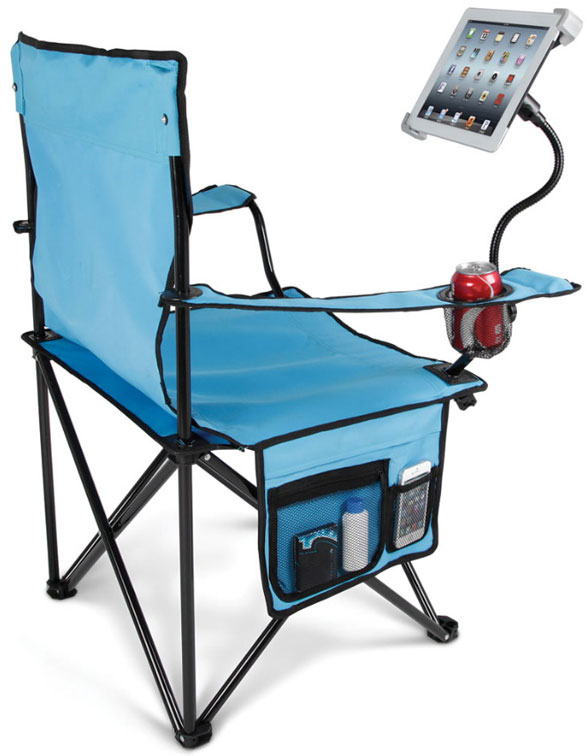 tabletlawnchair Tablet Lawn Chair   because squinting at a screen down in the basement is not good for your eyes
