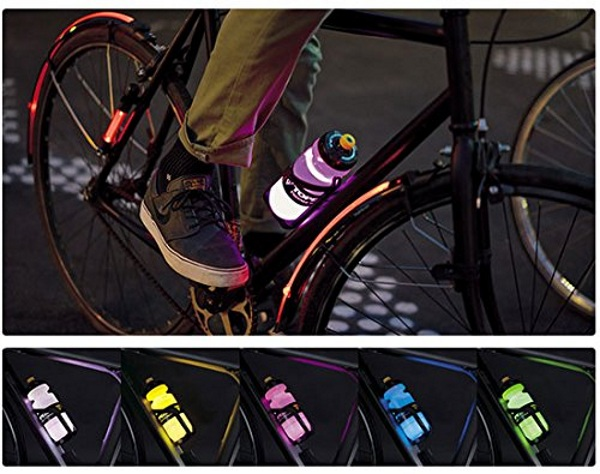 iGlow Water Bottle Cage – turn your water bottle into a riding light